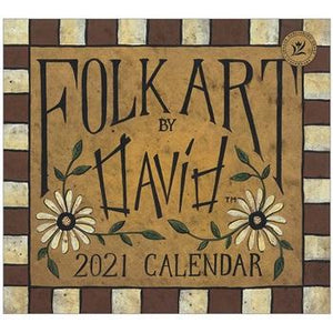 "Legacy 2021 Folk Art by David Wall Calendar - Bendixen's ""Bit of Country"" Giftware, LLC"