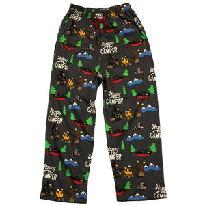 Lazy One Happy Camper Unisex PJ Pants, Choice Of Sizes - Bendixen's Giftware