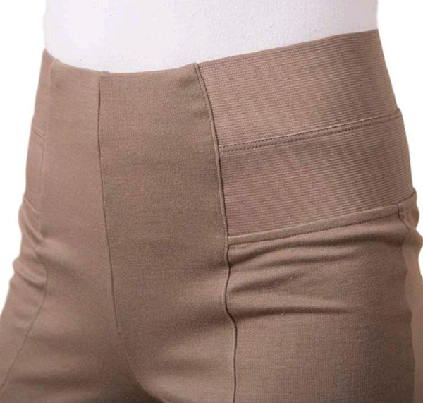Simply Noelle Ponte Slack Pant in Black or Taupe - Bendixen's Giftware