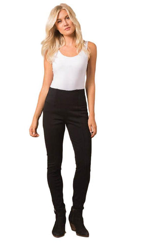 Simply Noelle Ponte Straight Pant in Black, EVPNT2
