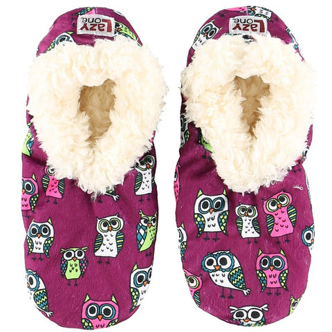 Lazy One Night Owl Fuzzy Feet Slippers, Choice of Two Sizes - Bendixen's Giftware