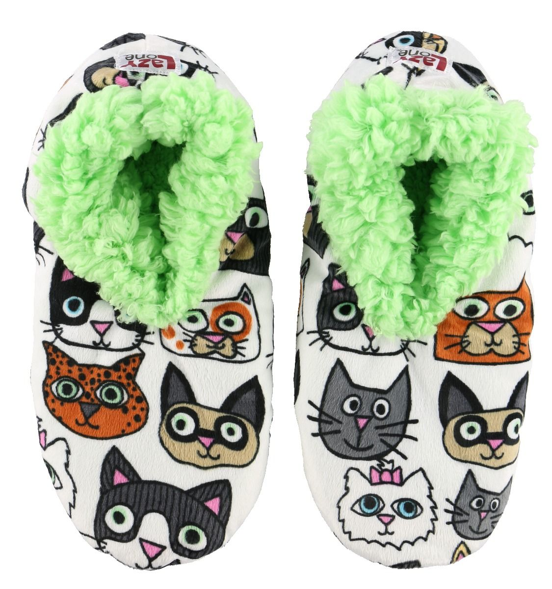 Lazy One Catitude Fuzzy Feet Slippers, Choice of Two Sizes - Bendixen's Giftware