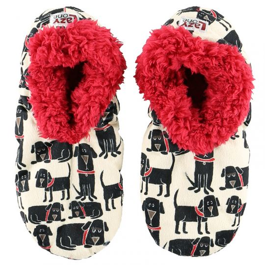 Lazy One Ruff Night Fuzzy Feet Slippers, Choice of Two Sizes - Bendixen's Giftware