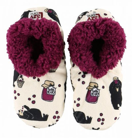 Lazy One Huckleberry Fuzzy Feet Slippers, Choice of Two Sizes - Bendixen's Giftware