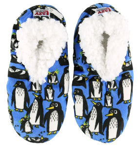 Lazy One Penquin Fuzzy Feet Slippers, Choice of Two Sizes - Bendixen's Giftware