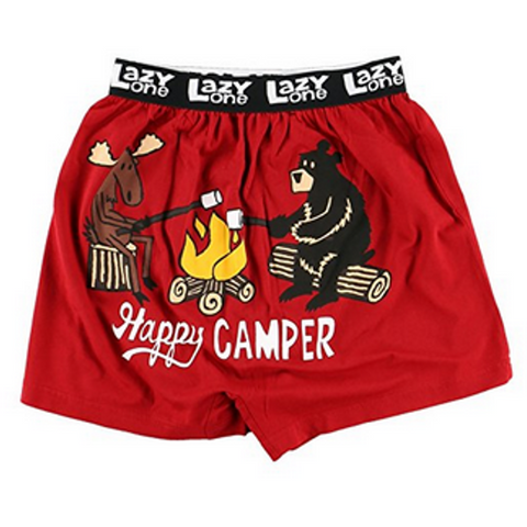 Lazy One Happy Camper Men's Boxers - Bendixen's Giftware