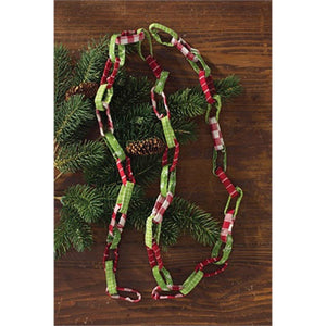 Homemade Holiday 6  Foot Long Fabric Garland - Bendixen's Giftware