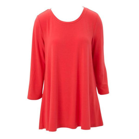Essential Tunic in Hot Coral, Assorted Sizes - Bendixen's Giftware