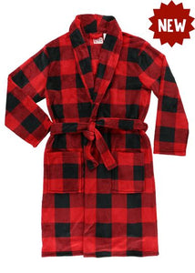 Lazy One Red Plaid Men's Robe, Choice of Sizes - Bendixen's Giftware