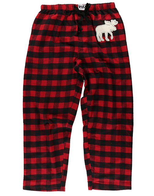 Moose Plaid PJ Pants, Choice Of Sizes - Bendixen's Giftware