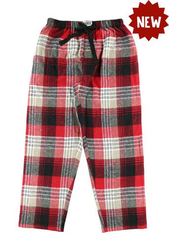 Lazy One Country Plaid Unisex PJ Pants, Choice Of Sizes