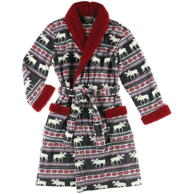 Lazy One Moose Fair Women's Bathrobe, Choice of Sizes - Bendixen's Giftware