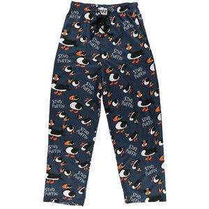 Lazy One Stud Puffin PJ Pants, Choice Of Sizes - Bendixen's Giftware