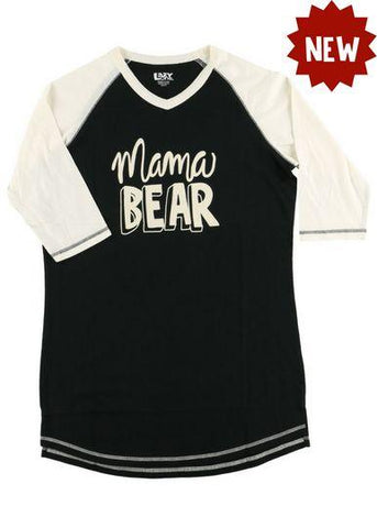 Lazy One Mama Bear Women's PJ Tall Tees, Choice Of Sizes - Bendixen's Giftware