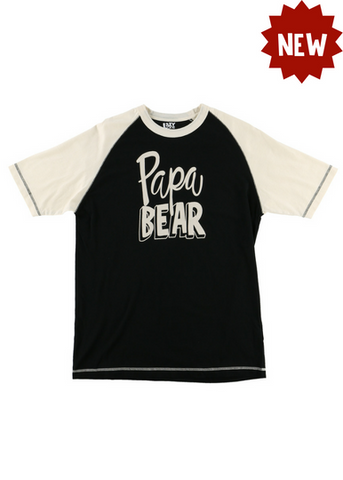 Lazy One Papa Bear Men's PJ Tees, Choice Of Sizes - Bendixen's Giftware