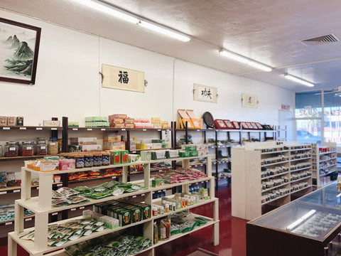 inside our store front yong sheng herbs and more