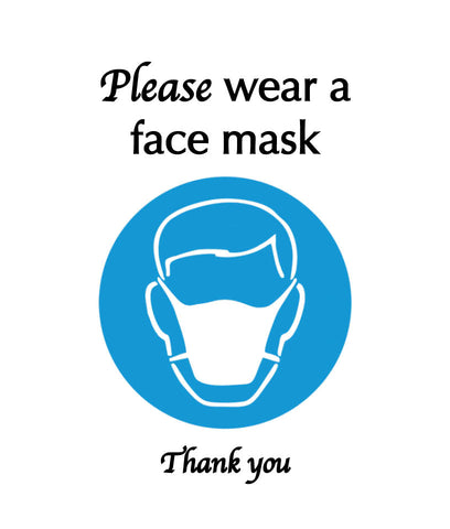 please wear a mask in our store