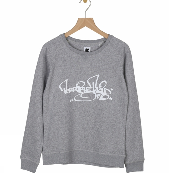 Terrible T Kid 170 - women organic soft touch signature sweatshirt - Grey