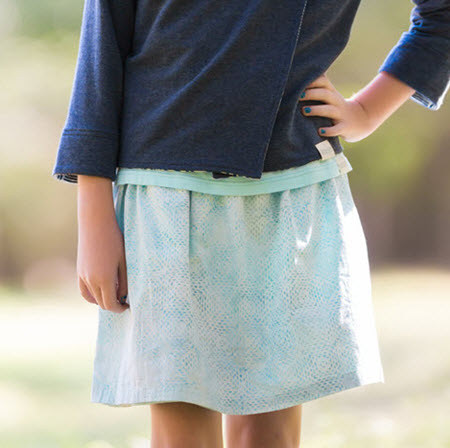 Sola Reversible Skirt Light Blue/Mint