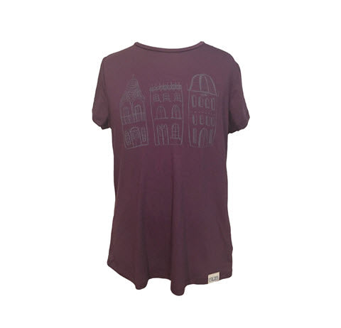 Artwork Tee Houses Plum