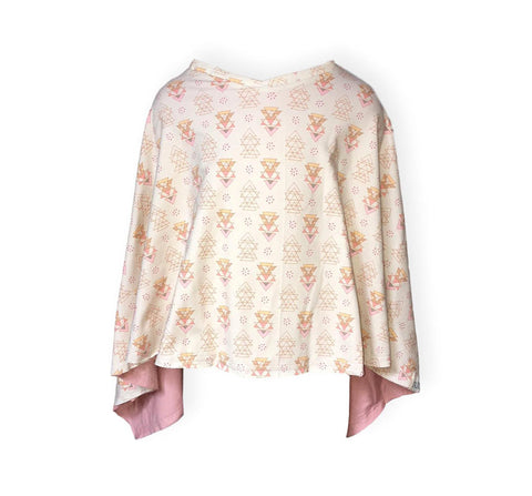 Reversible Poncho Rocky Rose