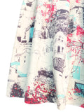 Ela Dress - City Scene White
