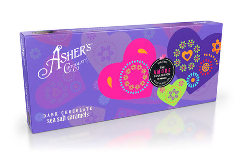 Asher's Valentine Dark Chocolate Sea Salt Caramels