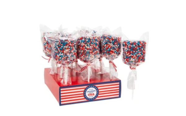 Patriotic Marshmallow Pop
