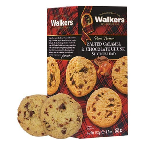 Walkers Salted Caramel and Chocolate Chunk Shortbread