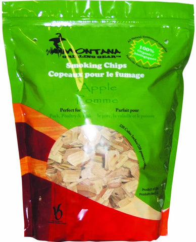 Montana Grill Apple Wood Chips-220 cubic  inches