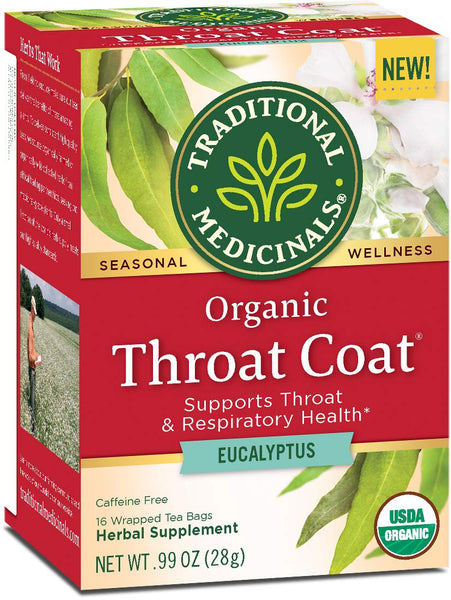 Traditional Medicinal Throat Coat with Eucalyptus Tea