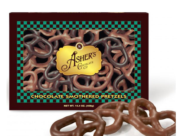 Asher's Assorted Chocolate Pretzels-Milk And Dark Chocolate