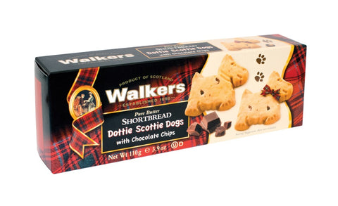Walkers Chocolate Chip Scottie Dog Shortbread Cookies