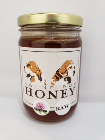 1 Pound Raw Clover Honey