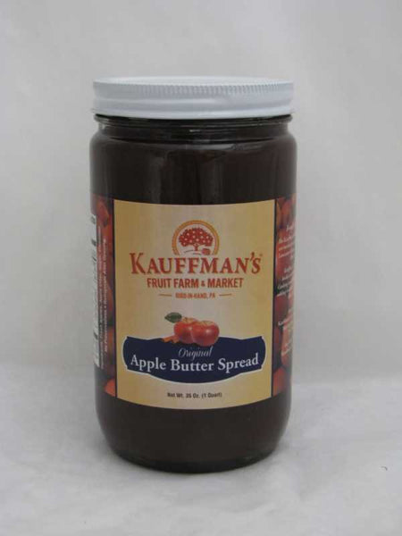 Kauffman's Apple Butter Spread, No Sugar Added, With Spice 35 oz Jar