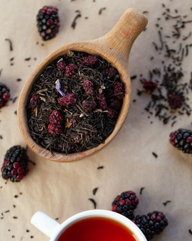 Blackberry Black Tea with Dried Blackberries