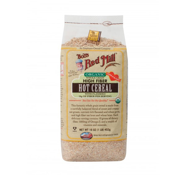 Organic Whole Grain High Fiber Hot Cereal with Flax seed