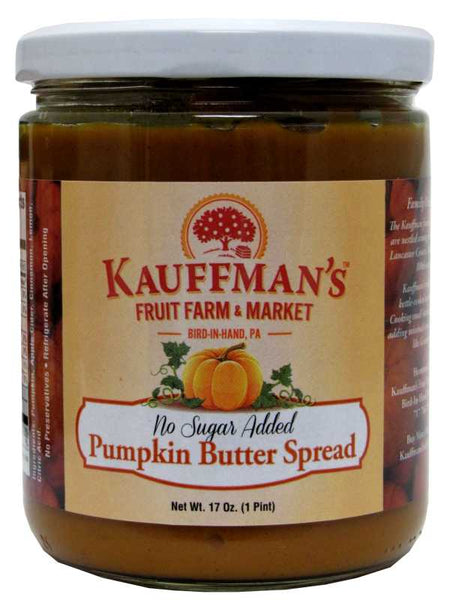 Kauffman's Pumpkin Butter Spread No Sugar Added