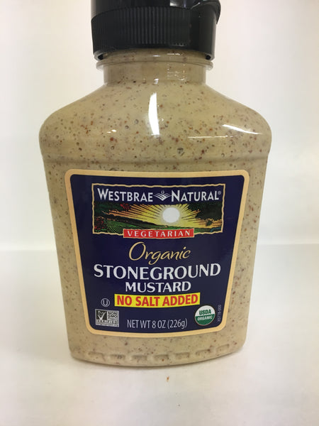 Westbrae Natural Vegetarian Organic Stoneground Mustard