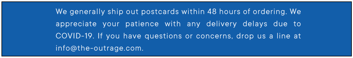 We generally ship out postcards within 48 hours of ordering.