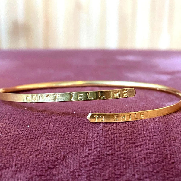 Don't Tell Me To Smile Wrap Bracelet
