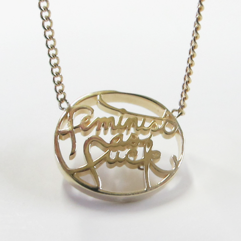 'feminist as f*ck' necklace