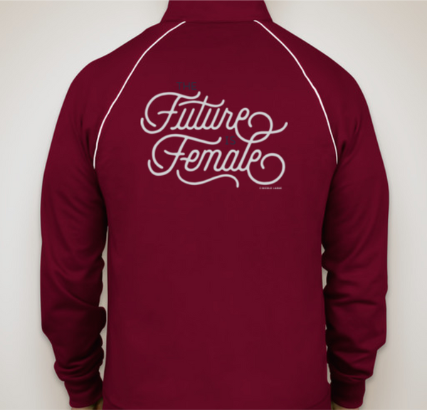 'The Future Is Female' track jacket