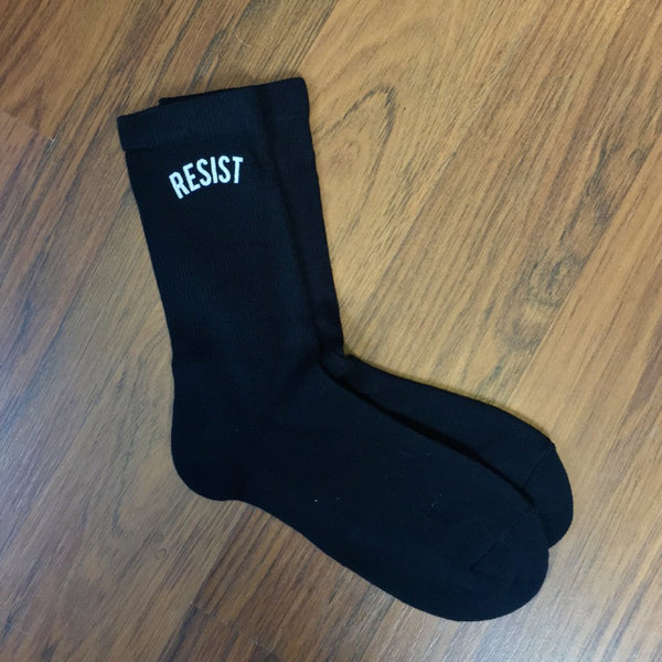 'RESIST' socks