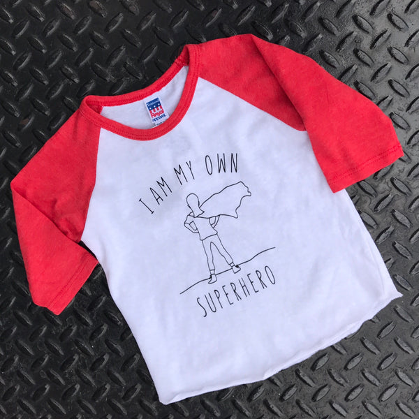 """Superhero"" Kids Raglan"