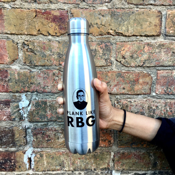 'Plank Like RBG' Water Bottle
