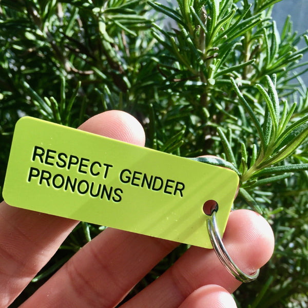 Respect Gender Pronouns Key Tag