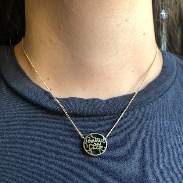 Feminist As F*ck Cutout Necklace
