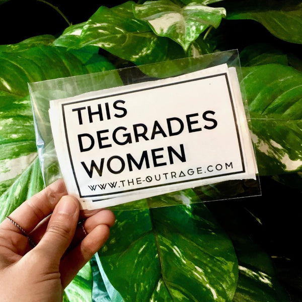 'this degrades women' sticker pack