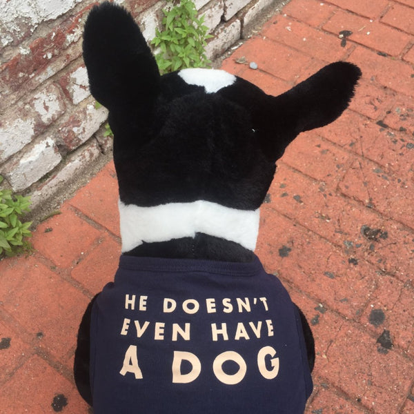 'He Doesn't Even Have A Dog' Dog Tank